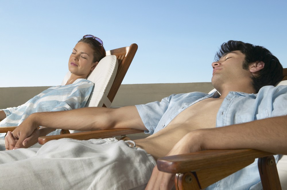 Relaxing Younger Couple